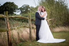 Bride and Groom with Essex countryside