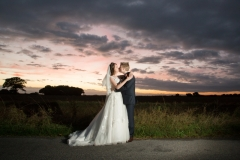 Bride and Groom with Essex dusk