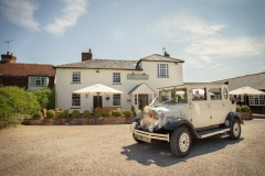 Bridal Wedding Car at Compasses Venue